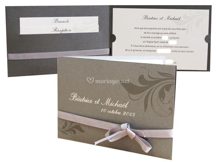 Faire part mariage catalogue