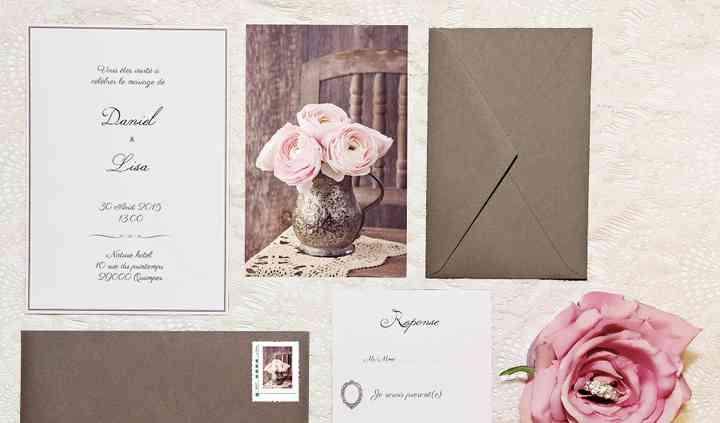 """Invitations mariage """"vintage"""""""