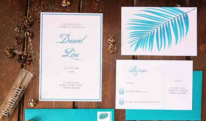 "Invitations mariage ""nature"""