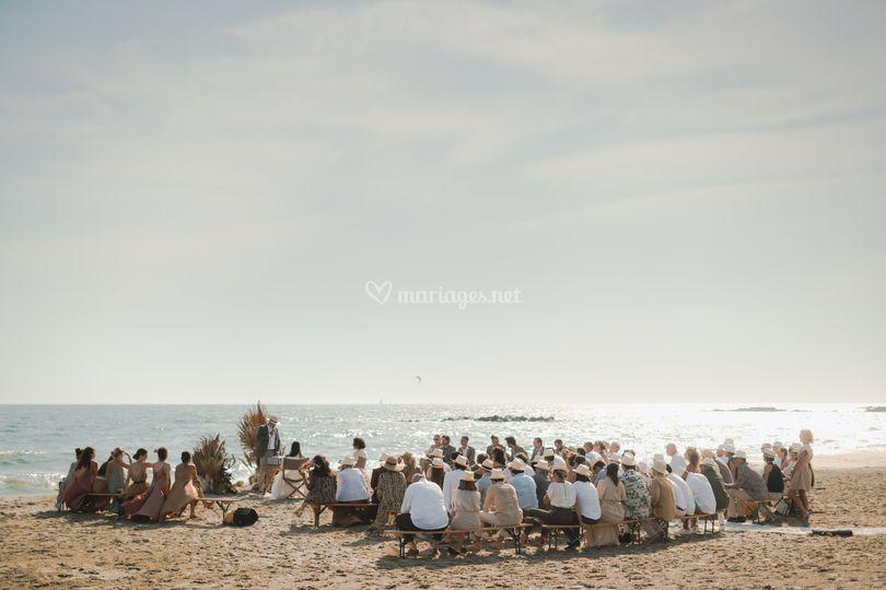 Cérémonie sur la plage
