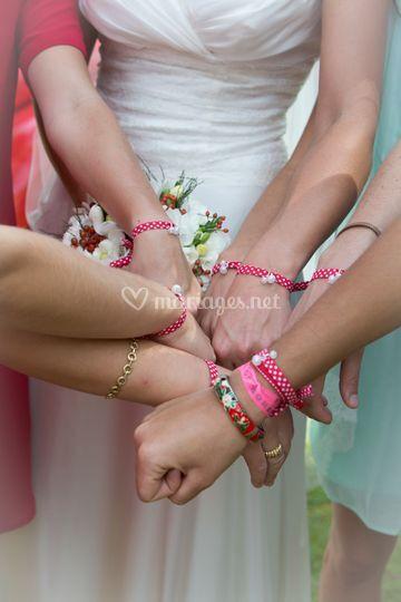 Bracelets demoiselles honneur