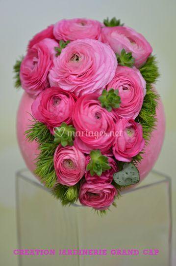 Centre de table thème rose