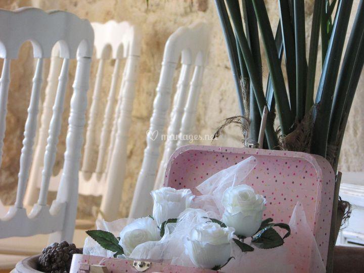 La valise aux fleurs
