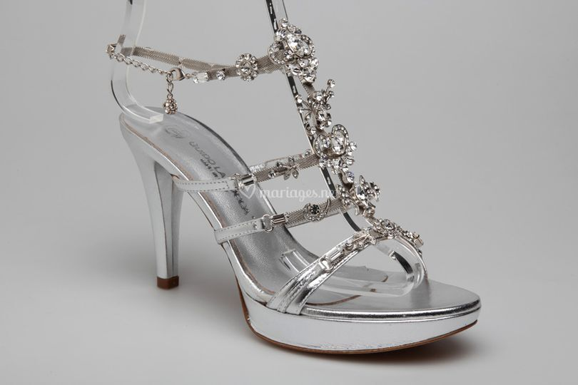 Sandales mariée tout strass