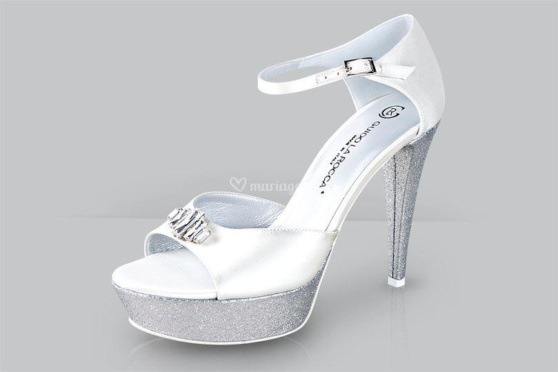 Sandales de mariée pailletées