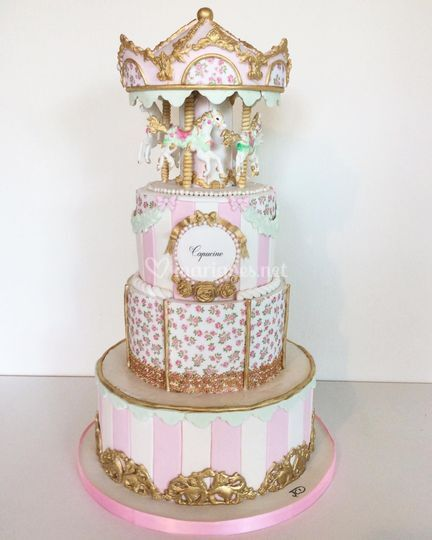 Cake design carrousel Juliette