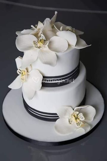 Cake design orchidées  Juliette