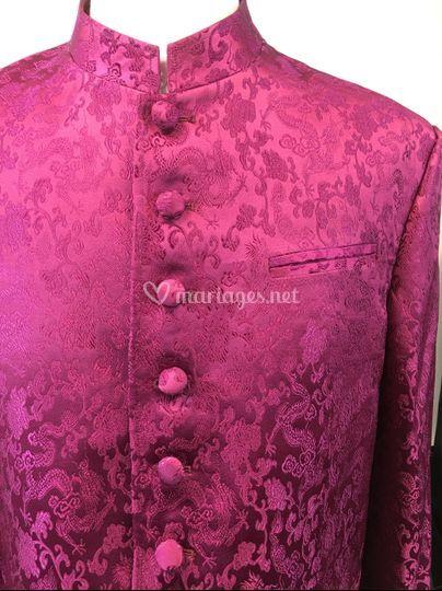 Costume en couleur Framboise