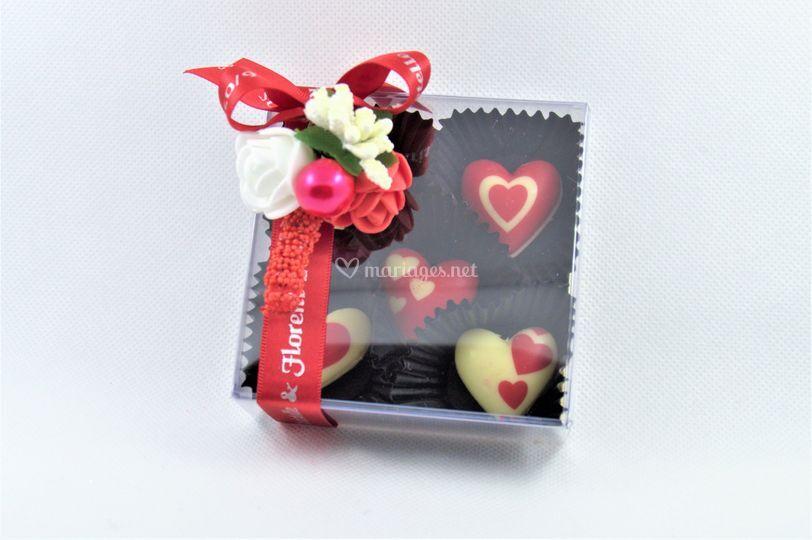 Coffret personnalisé chocolat