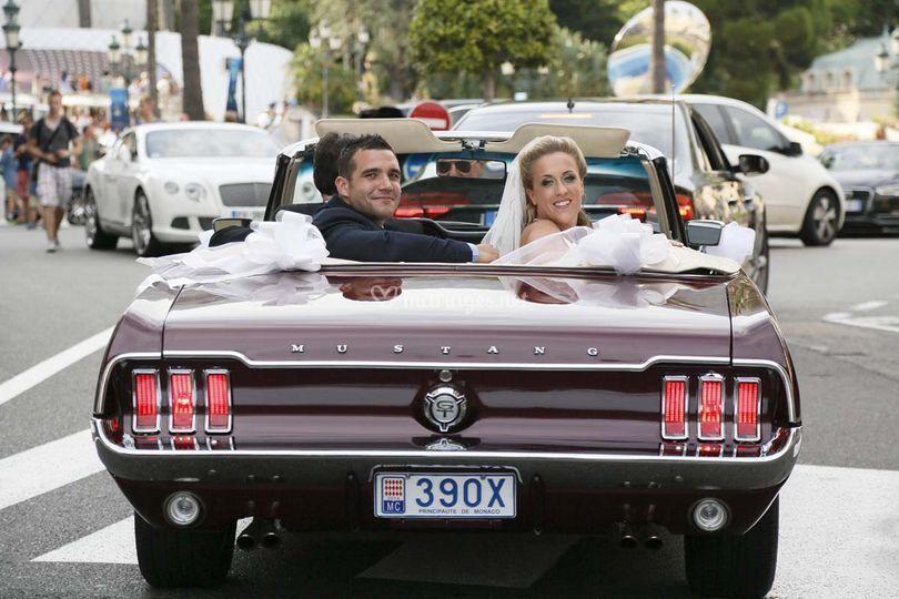 En Mustang à Monaco