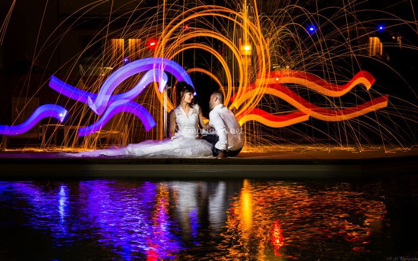 Ligth Painting mariage