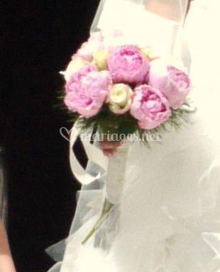 Bouquet de mariée pivoincs