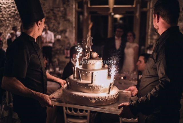 Entrée du wedding cake