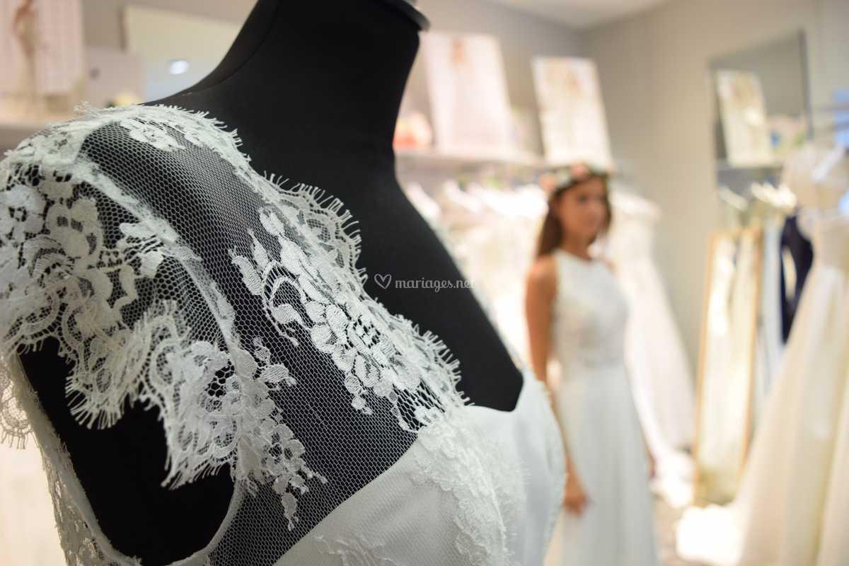 Robe De Mariee Beziers De Blanc Poudre Photo 38