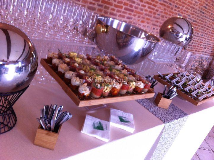 Présentation buffet cocktail