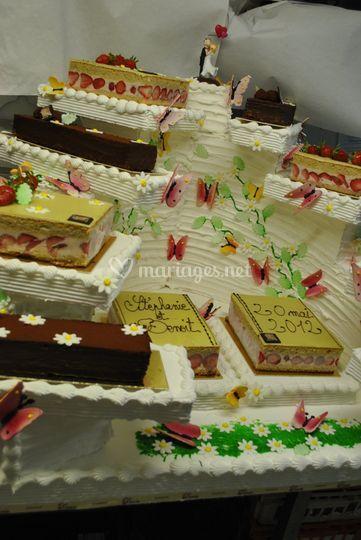 Cascade de gâteaux