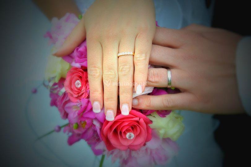 Superbe mariage blanc fushia