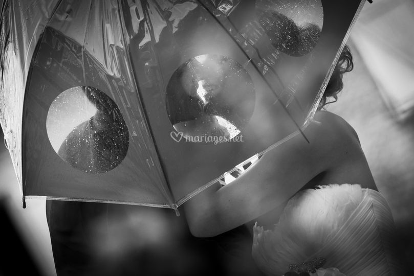 Portrait sous la pluie