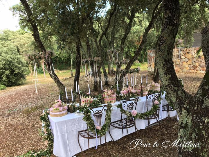 Table mariage Montpellier