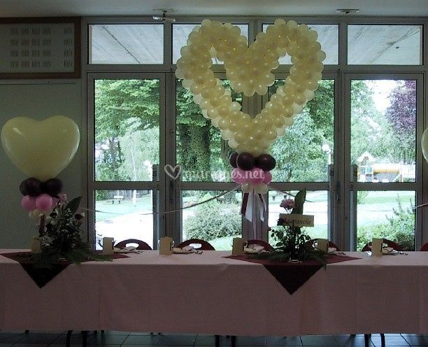 Décoration table mariés