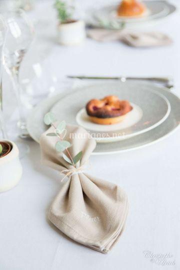 Serviette de table - Prénom