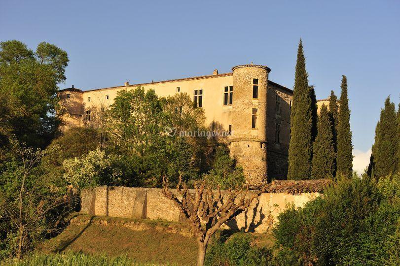 Jardins et façade sud
