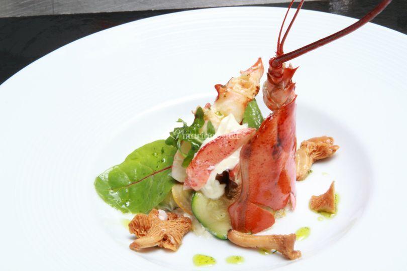 Poché de homard