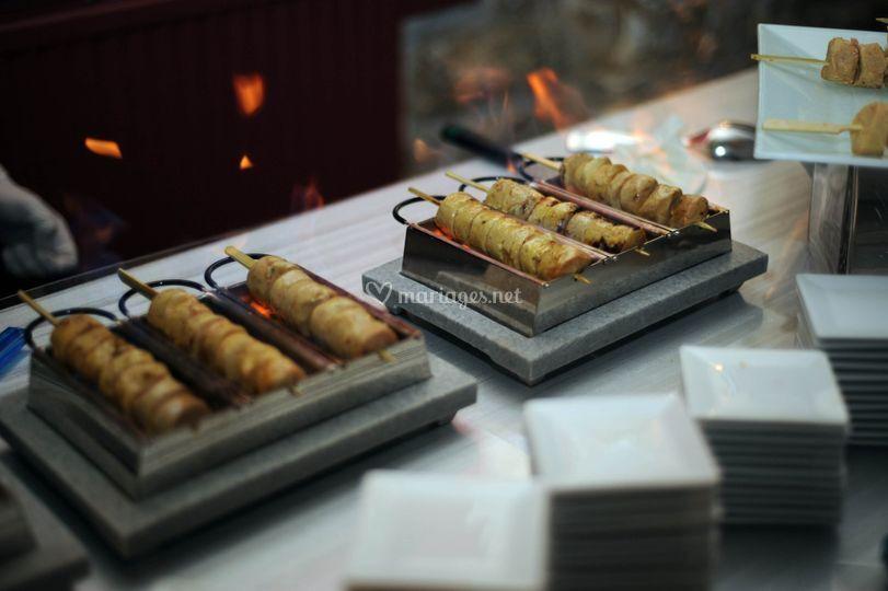 Animation foie gras flambée
