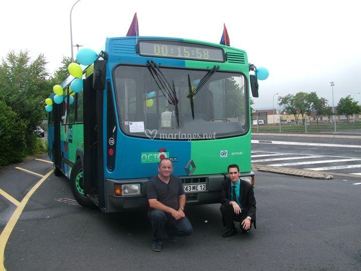 Le bus à louer pour un mariage