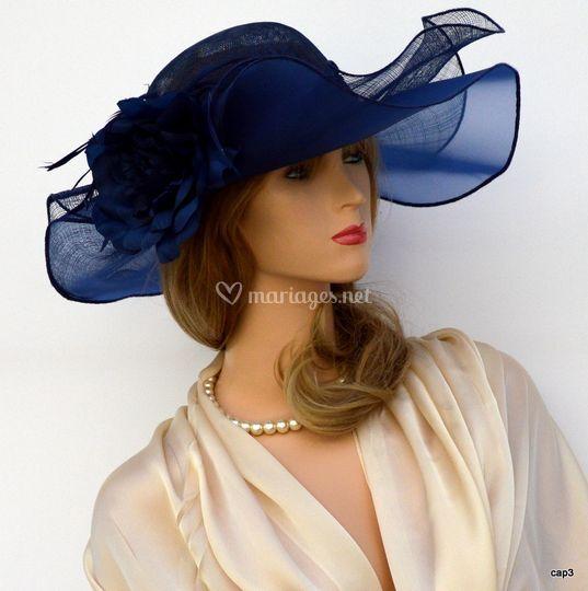 Chapeau bleu roi