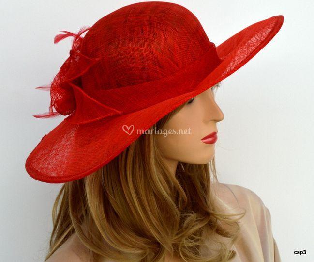Chapeau cérémonie rouge