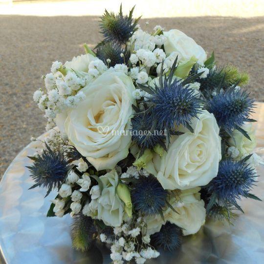 Bouquet marine et blanc