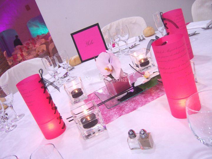 Centre de table - mise en lumière-menu photophore