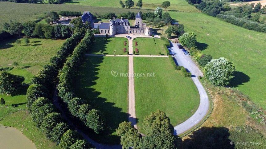 Le Château, vu du ciel