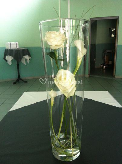 Vase cylindrique vin d'honneur