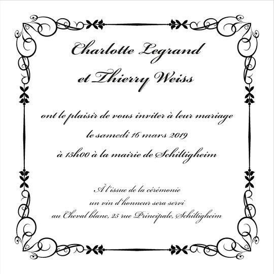 Invitation – Plutôt classique