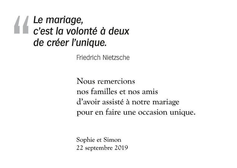 Remerciements – Citation