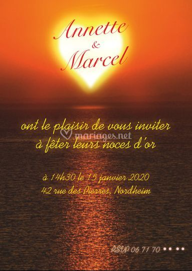 Invitation – Noces d'or
