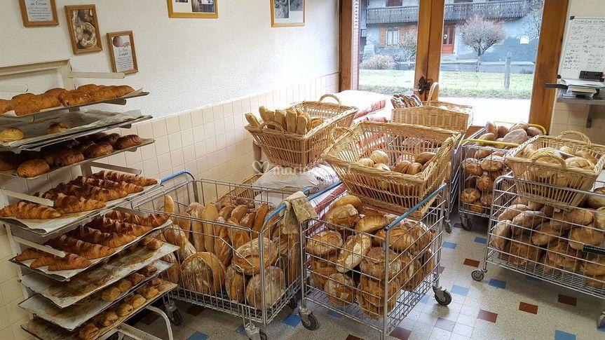 Nos pains et viennoiseries