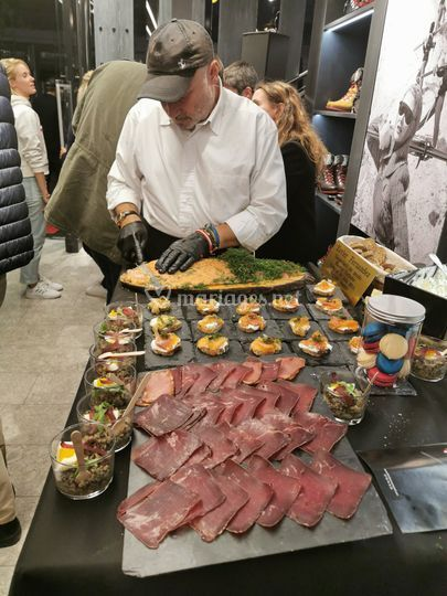 Découpes saumon et boeuf