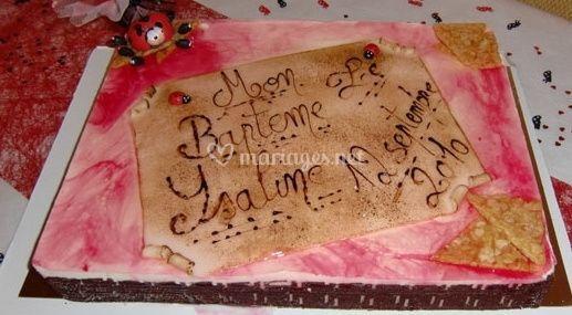 Gâteau avec message personnalisé