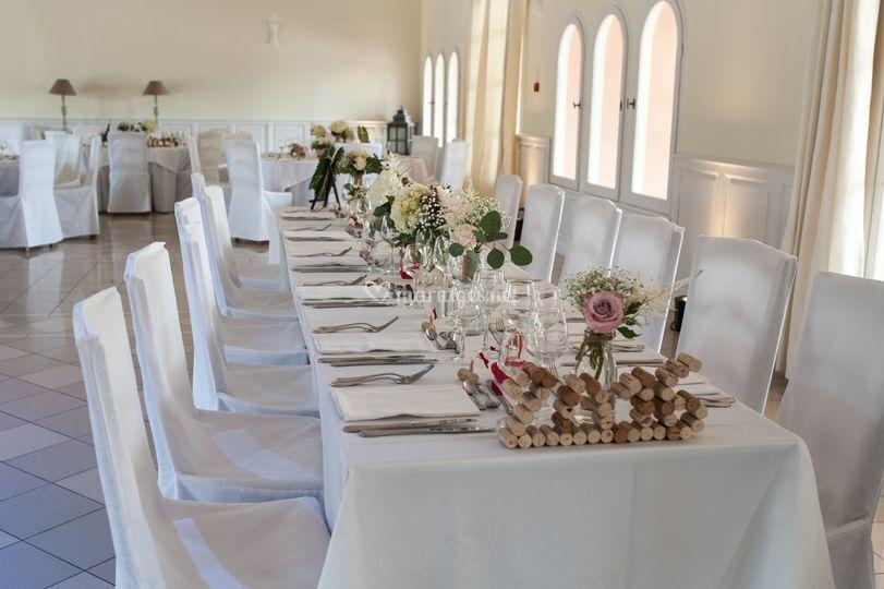 La table des mari s de ch teau de l 39 aum rade by sully ev nements photo 58 - Table des maries ...