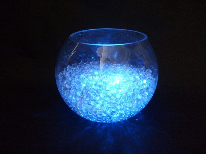 Vase boule  led en location