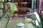 Vase boule perles d'eau sur Gemma D�coration