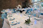 Mariage turquoise vase martini sur Gemma D�coration