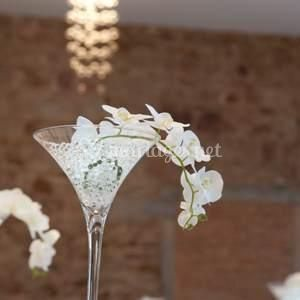 Vase martini orchidée led sur Gemma Décoration