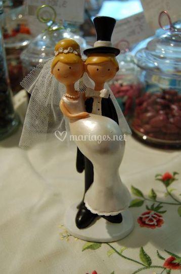 Figurine mariés humoristique