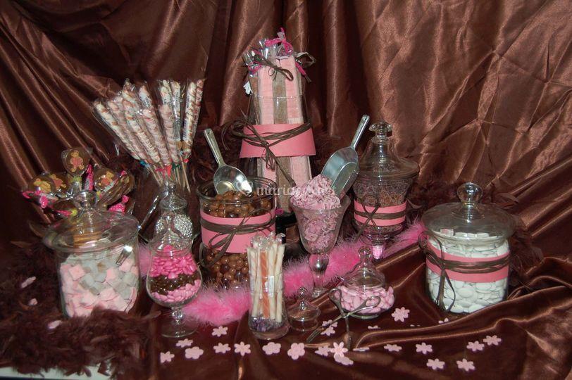 Exemple de Candy bar ou bar à bonbons