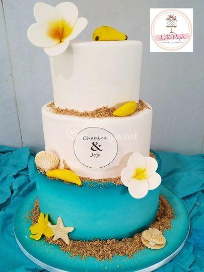Wedding cake des îles