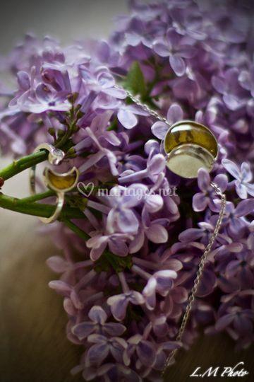 Bague et bracelet argent ambre